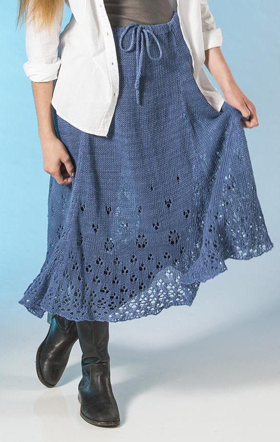 Free Knitting Pattern for Eyelet Skirt