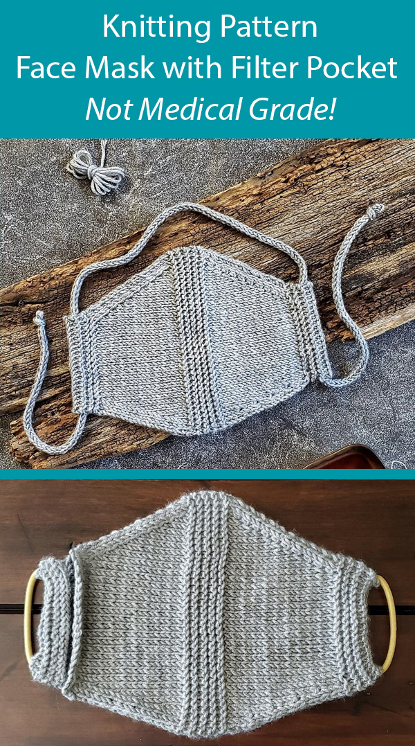 Free Knitting Pattern for Face Mask with Filter Pocket NOT MEDICAL GRADE