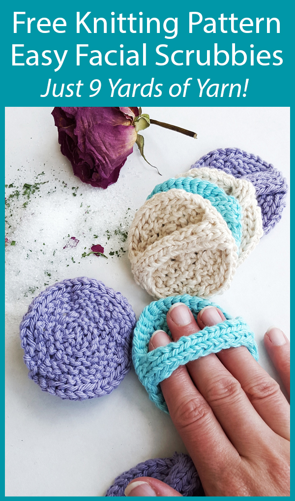 Free Knitting Pattern for Easy Facial Scrubbies