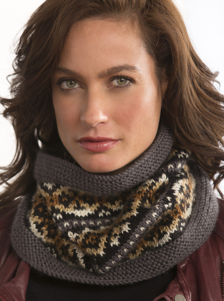 Free Knitting Pattern for Fair Isle Cowl