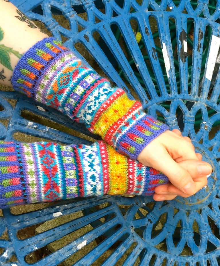 Free Knitting Pattern for Fair Isle Cuffs