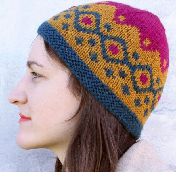 Free Knitting Pattern and Class for Fair Isle Hat