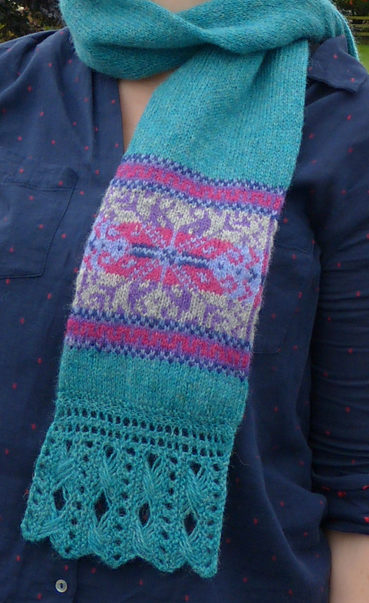 Free Knitting Pattern for Fair Isle Scarf