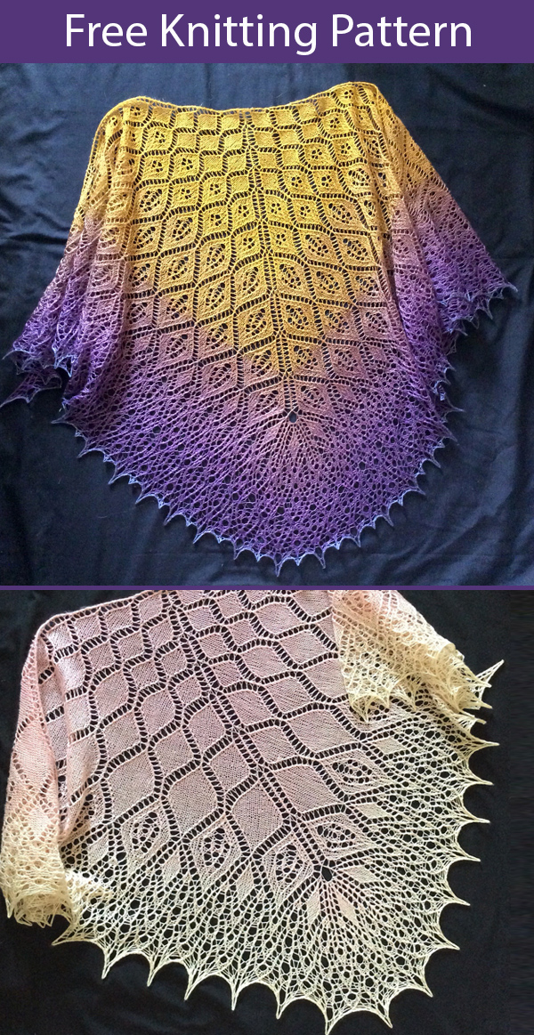 Free Knitting Pattern for Fair Oriana Shawl