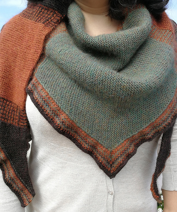Knitting Pattern for Fairfield Harvest Shawl