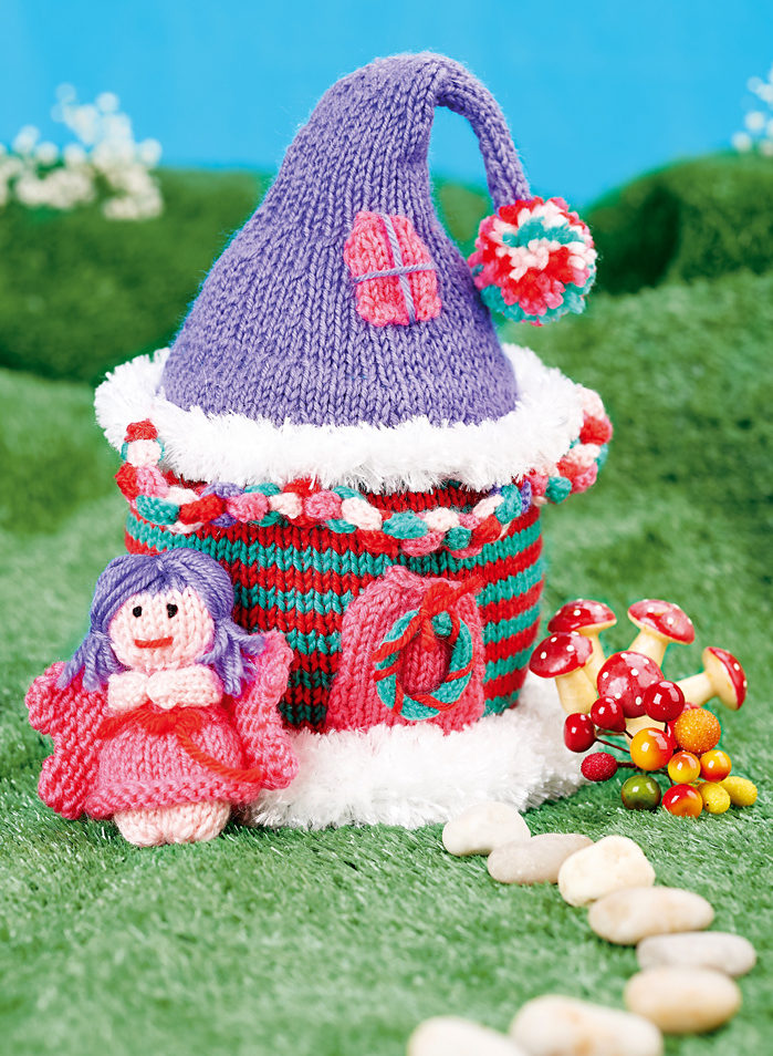 Free Knitting Pattern for Fairy House with Fairy