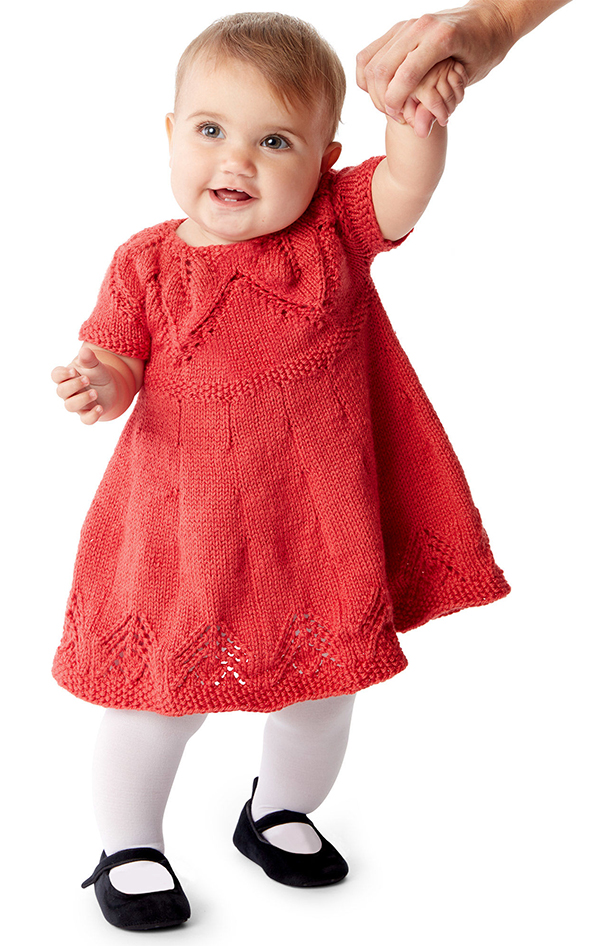 Free knitting pattern for Fairy Leaves Dress