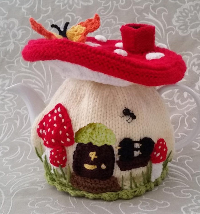Knitting Pattern for Fairy Mushroom Tea Cosy