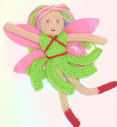 Free Knitting Pattern for Fairy Pin