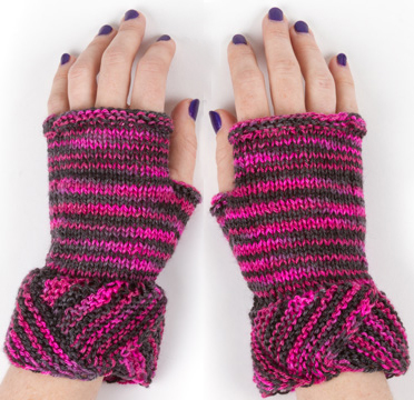 Free Knitting Pattern for Fairyland Fingerless Mitts