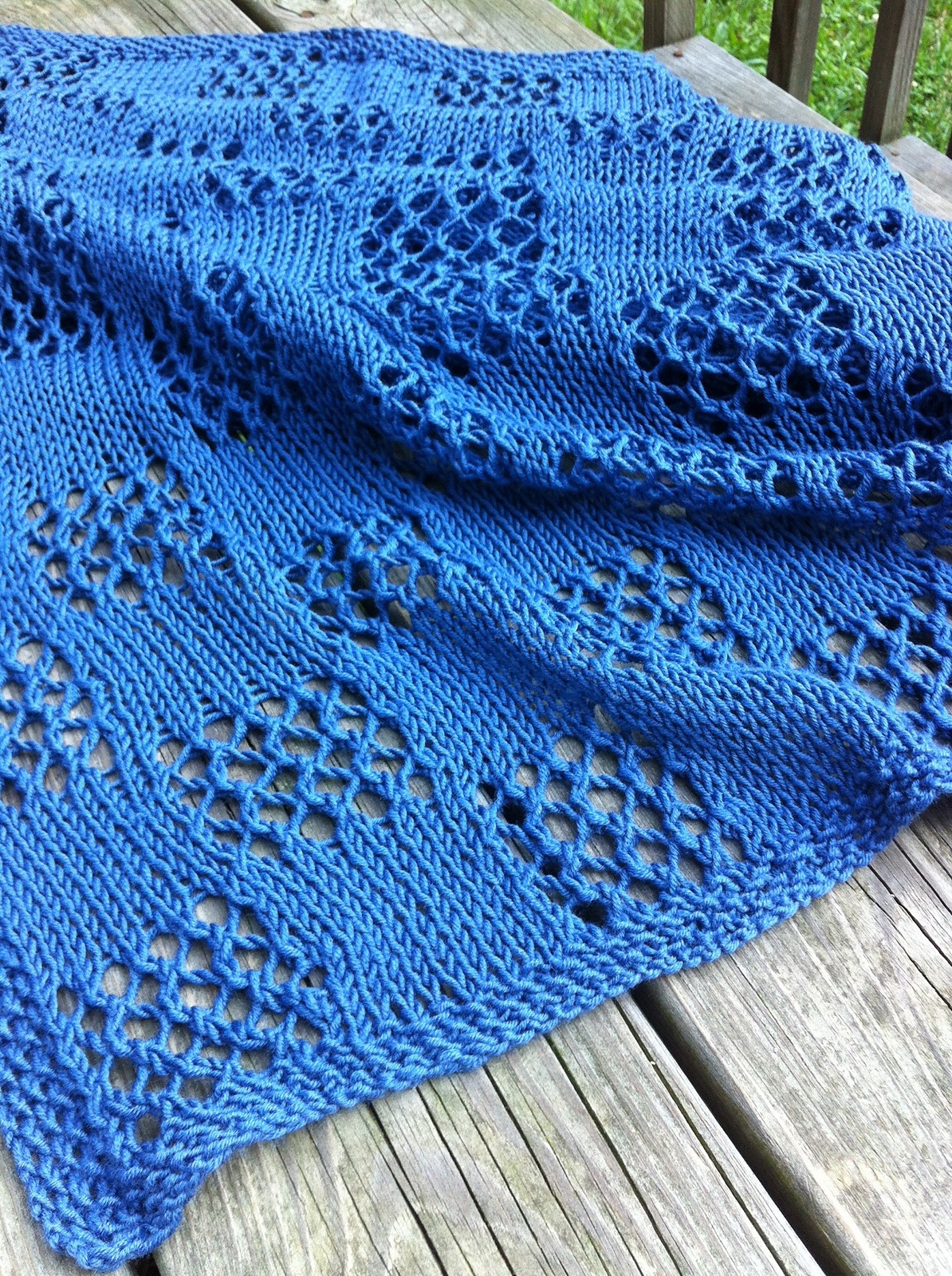 Free Knitting Pattern for Easy Fall Breeze Shawl