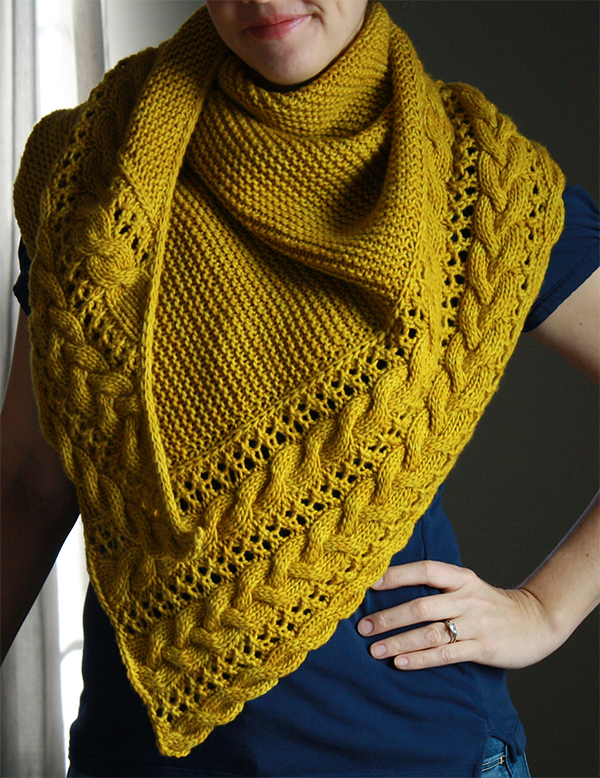 Knitting Pattern for Fallen Cloud Shawl