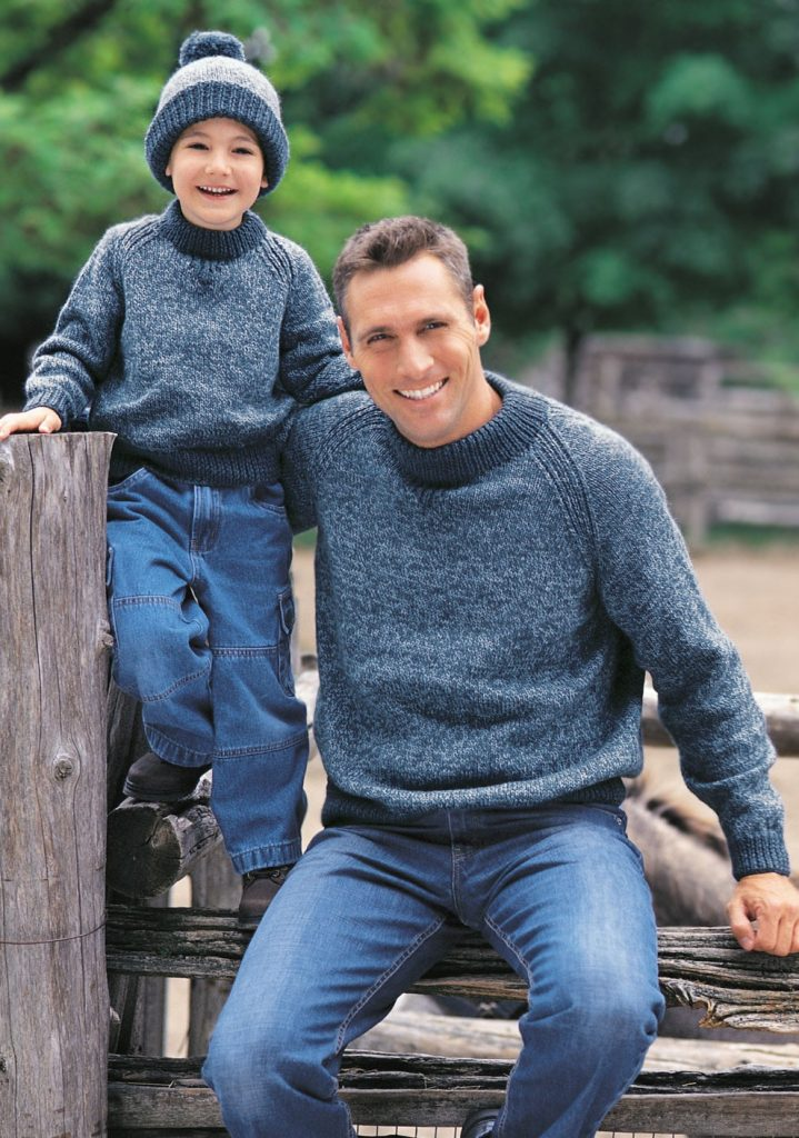 Free knitting patterns for Family Raglan Sweatershirt