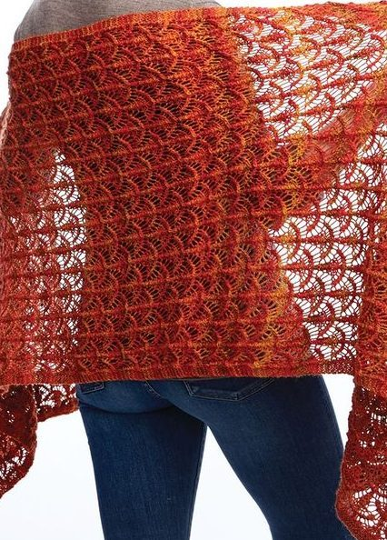 Free knitting pattern for Fanfare lace wrap and more lace shawl knitting patterns