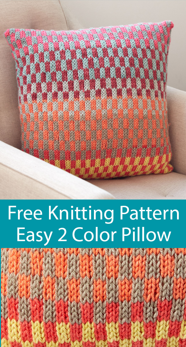 Free Knitting Pattern for Easy 8 Row Repeat Fantastic Fair Isle Pillow