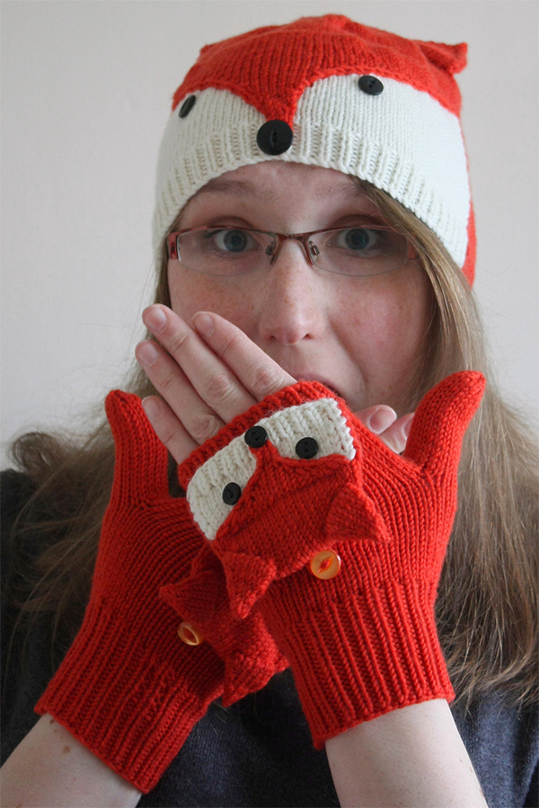 Knitting Pattern for Fantastical Fox Mitts