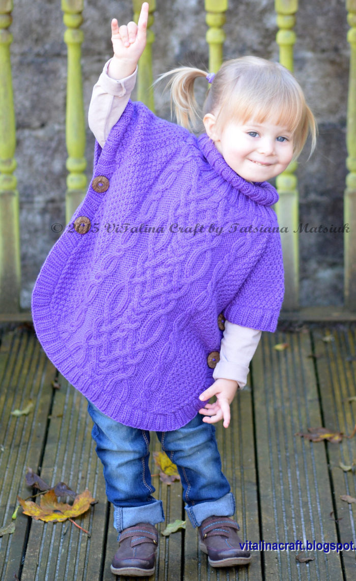 Knitting Pattern for Fantasy Poncho