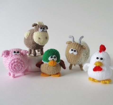 Knitting pattern for Farmyard Animals