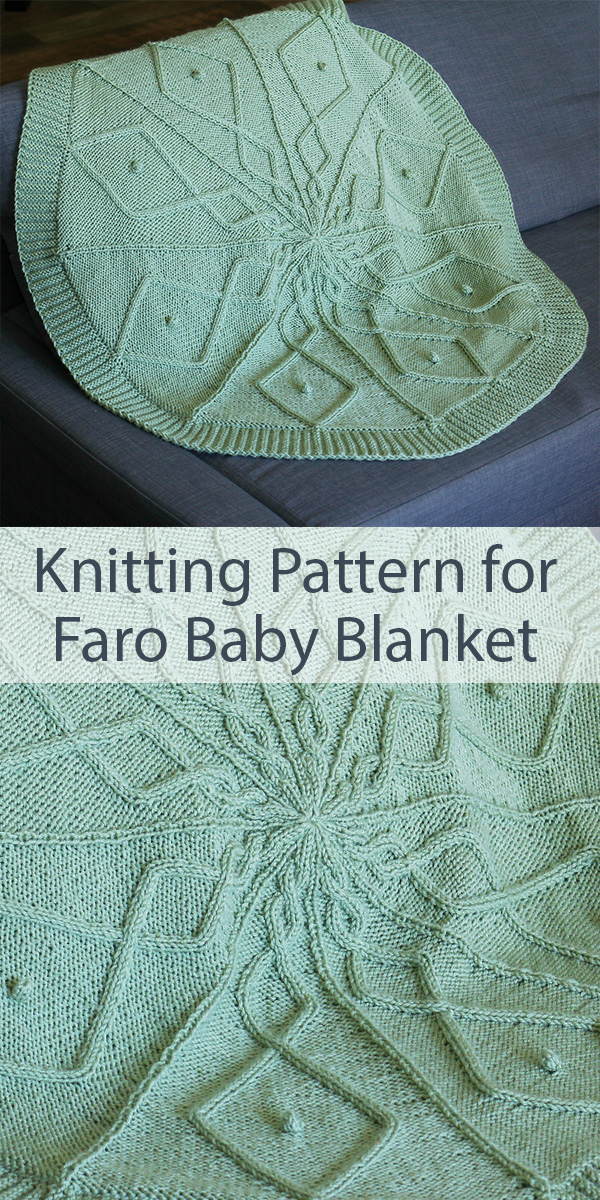 Knitting Pattern for Faro Baby Blanket