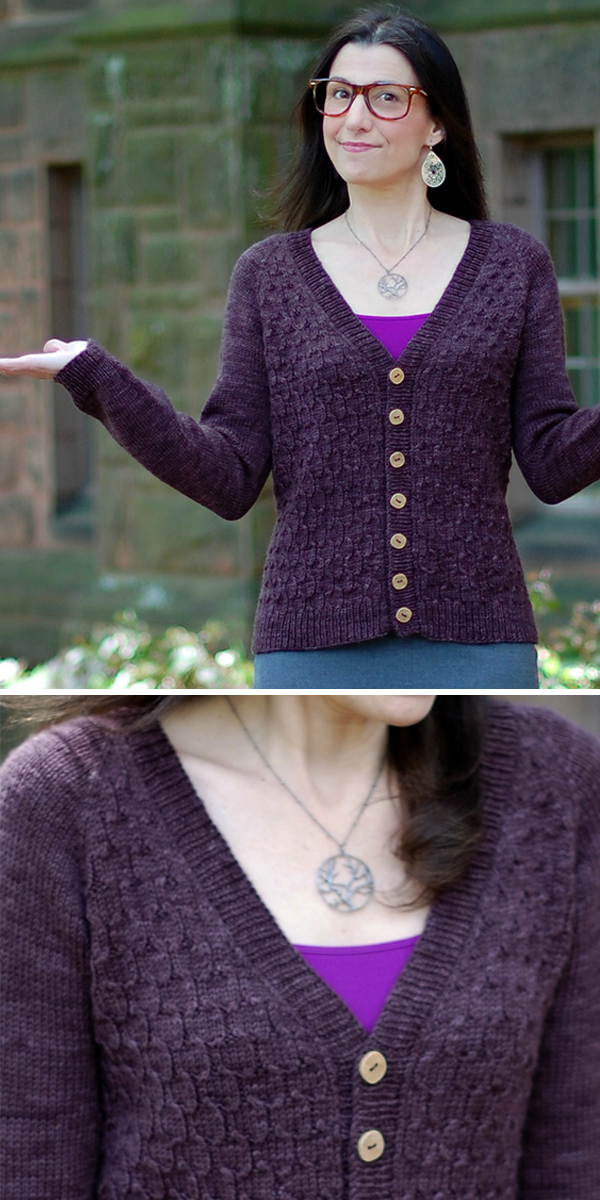 Knitting Patterns for Farrah Fowler Cardigan