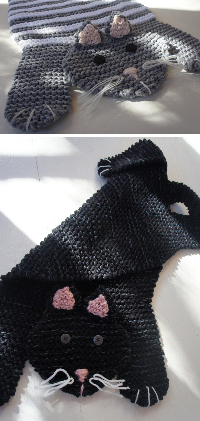 Knitting Pattern for Fat Cat Mat