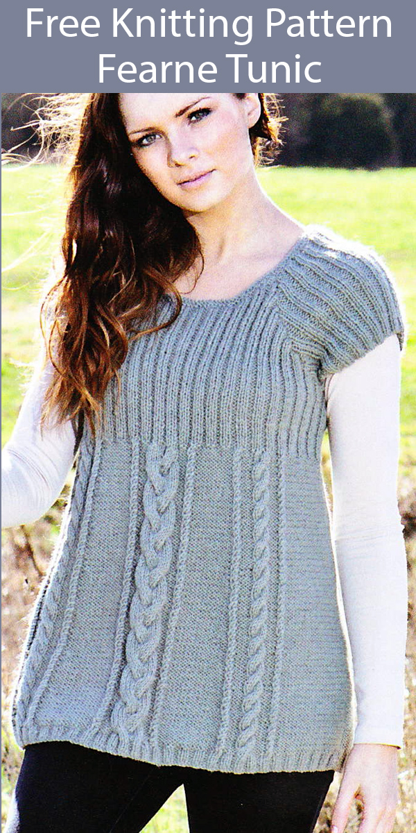 Free Knitting Pattern for Fearne Tunic Sweater