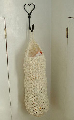 Free knitting pattern for Feather and Fan Bag