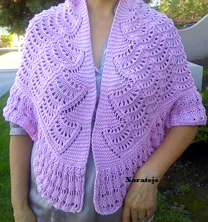 Knitting Pattern for Feather Stitch Shawl