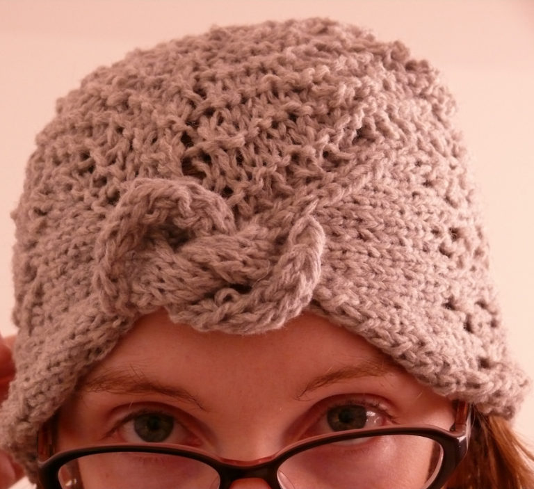 Free Knitting Pattern for Gull Wing Lace Turban