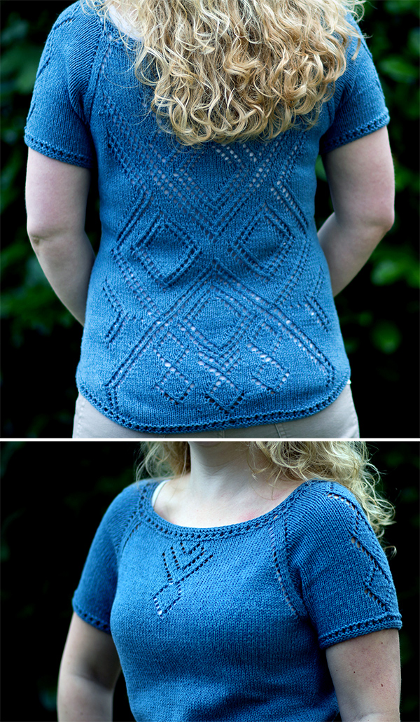 Free knitting pattern for Feels Like Me Top