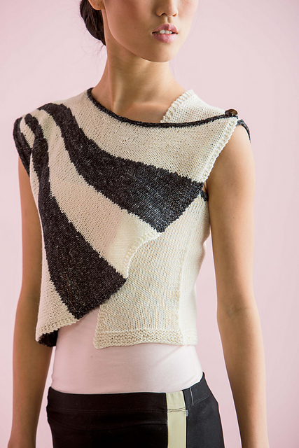 Knitting pattern for Short Row Vest and more vest knitting patterns