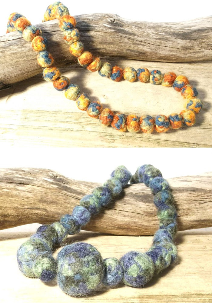 Free Knitting Pattern for Bead Necklaces and Bangles
