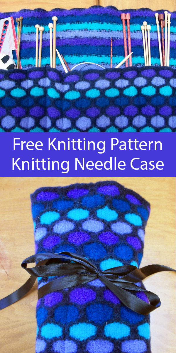 Free Knitting Pattern for Knitting Needle Case