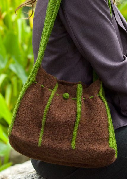 Free Knitting Pattern for Felted Tuck Purse