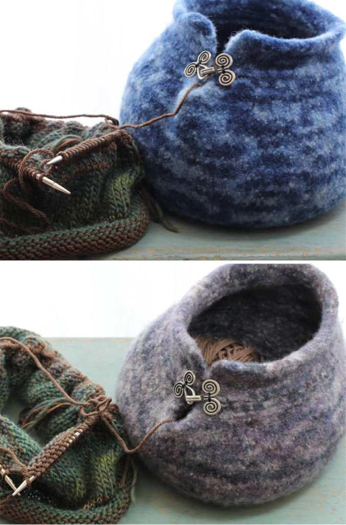 Knitting Pattern for Felted Yarn Bowl