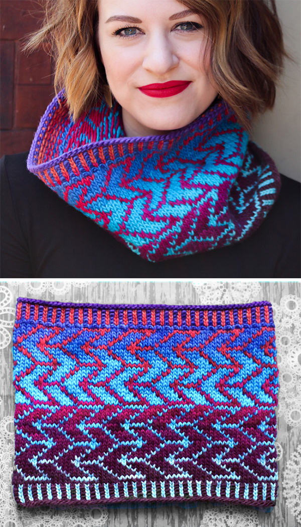 Free Knitting Pattern for Fenton's Arrow Cowl