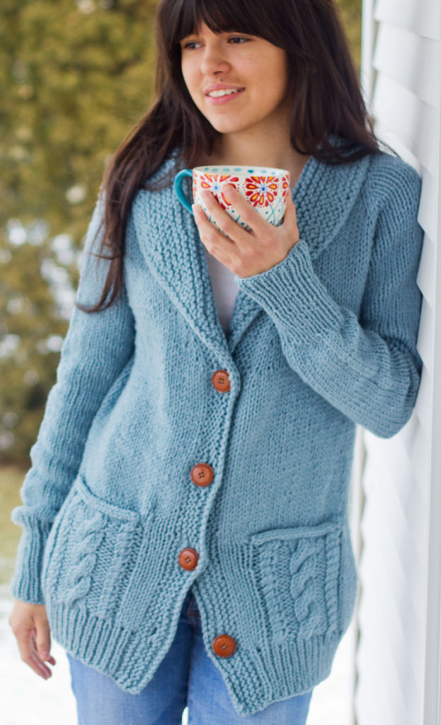 Free Knitting Pattern for Fezziwig Cardigan