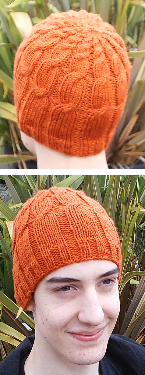 Free Knitting Pattern for Fibonacci Cables Hat