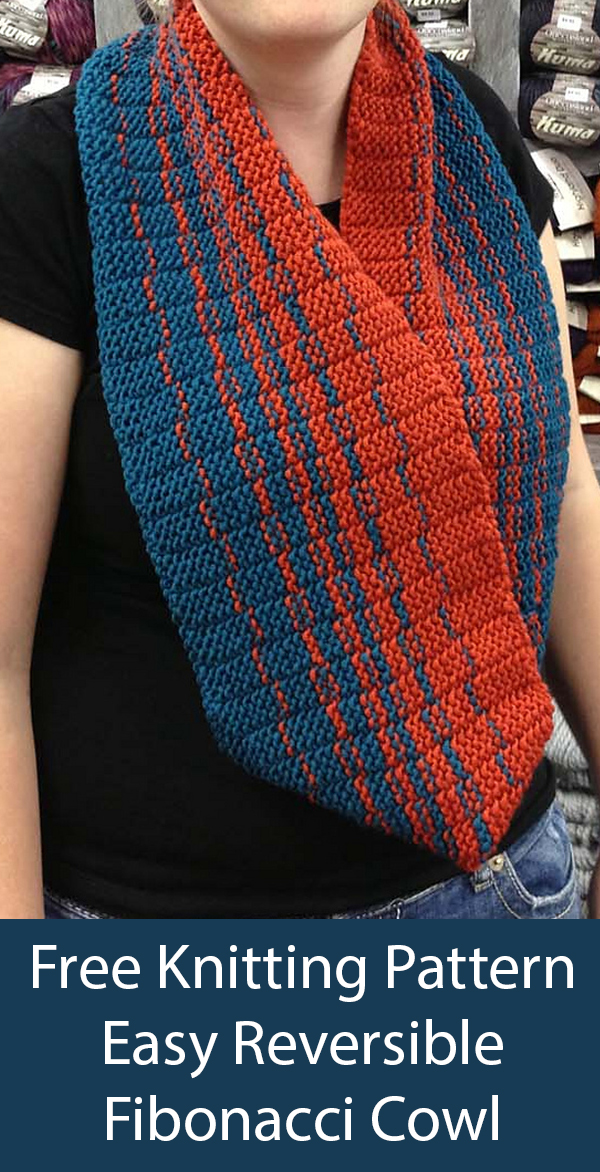 Free Knitting and Crochet Patterns for Fibonacci Cowl