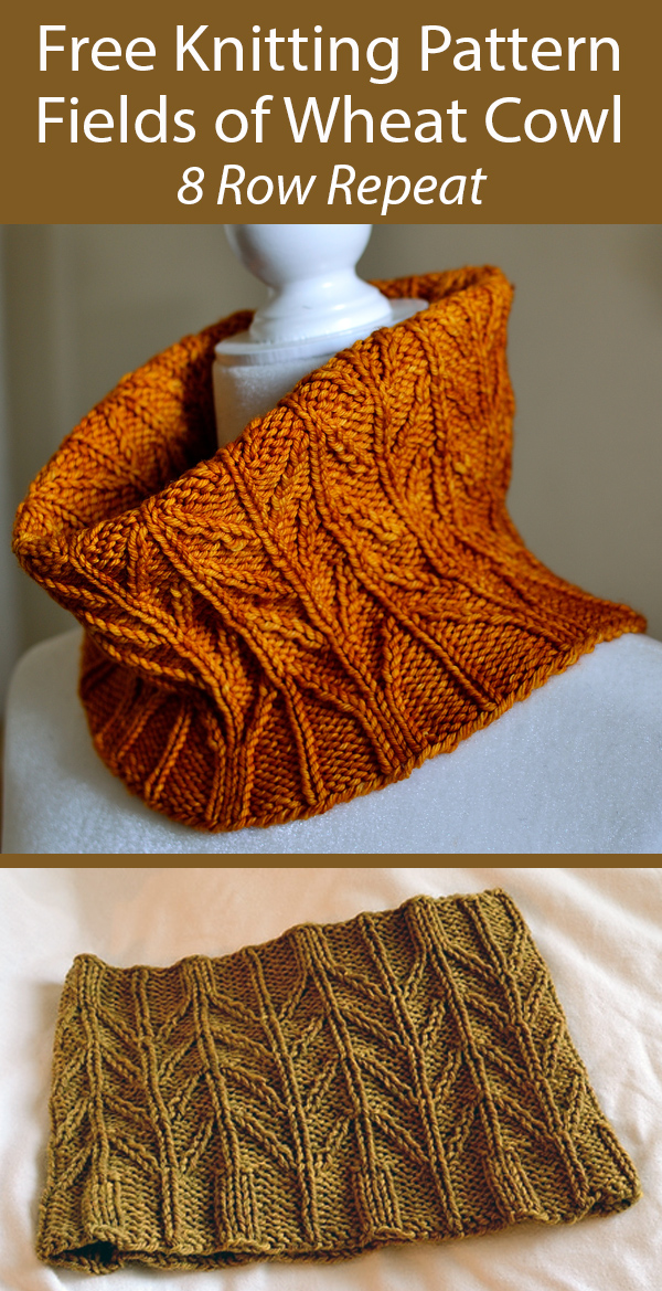 Free Cowl Knitting Pattern for Fields of Wheat Cowl
