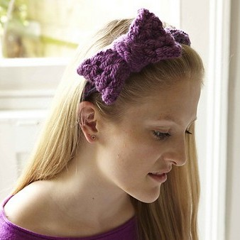 Knitting Pattern for Bow Headband