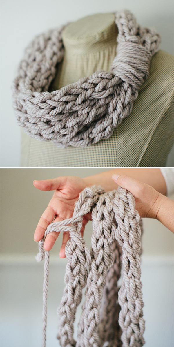 Free Pattern for Finger Knit Cowl