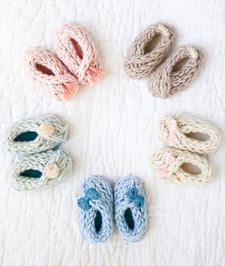 Knitting Pattern for Finger Knit Baby Booties