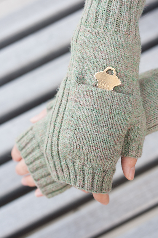 Free Knitting Pattern for Fingerless Pocket Mitts