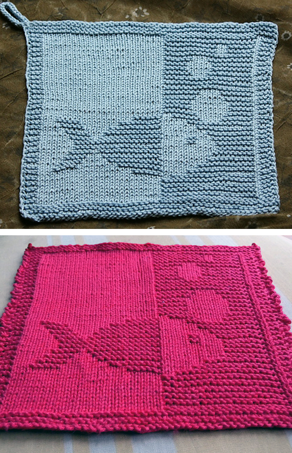 Free Knitting Pattern for Fish Cloth