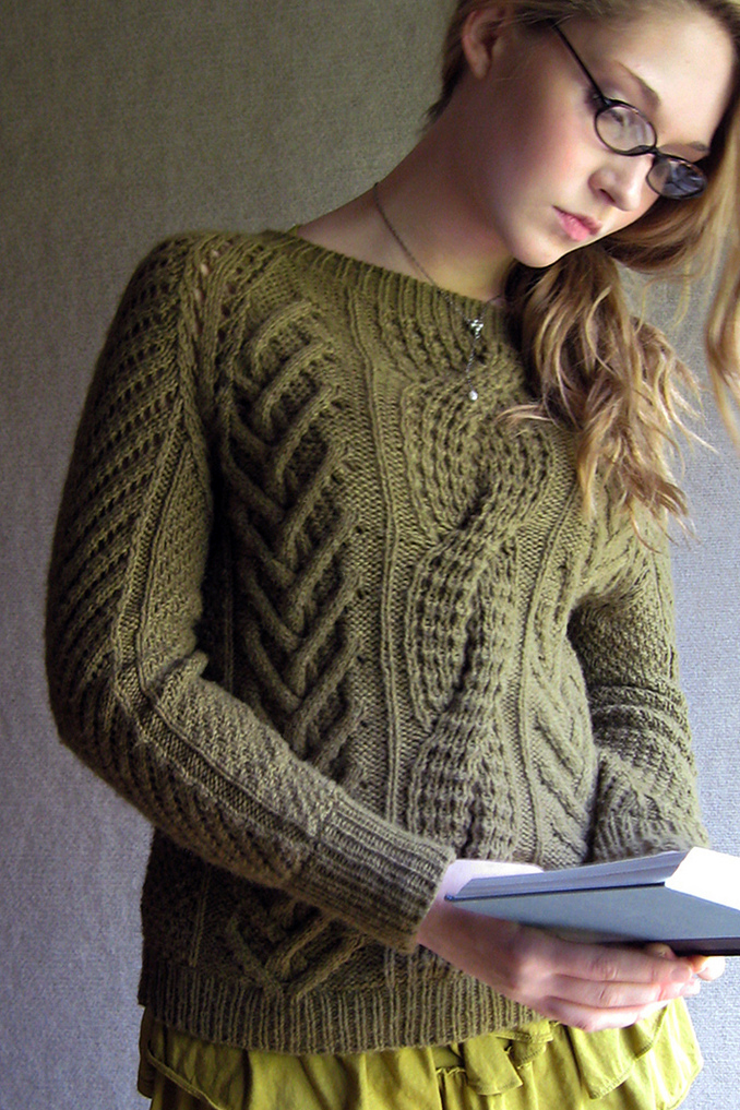 Knitting Pattern for Fisherman's Daughter Sweater