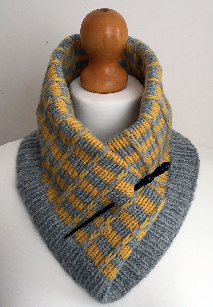 Free Knitting Pattern for Easy Fittleworth Cowl