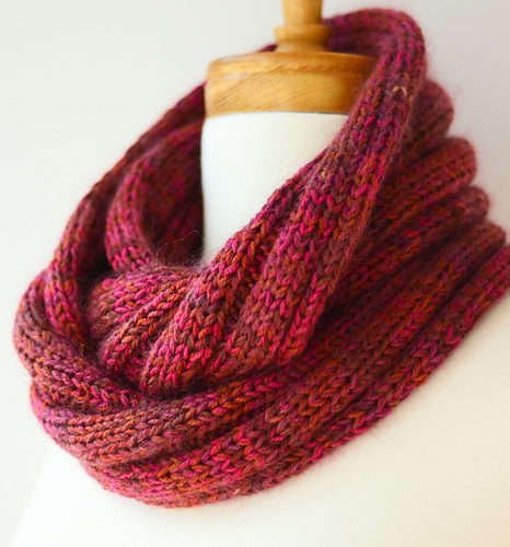 Free Knitting Pattern for Five by Five Cowl