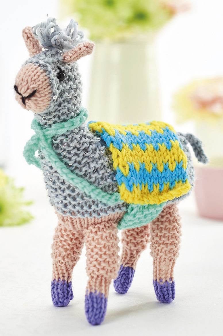 Free Knitting Pattern for Fizz the Llama