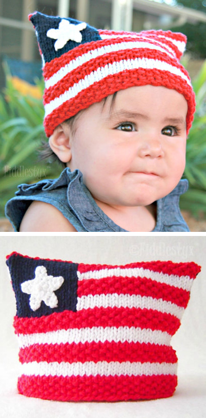 Patriotic And Americana Knitting Patterns In The Loop Knitting